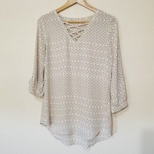 MAURICES flowy white top